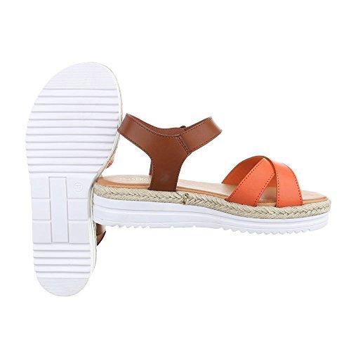 Ital-Design , Spartiates femme Orange WS-011