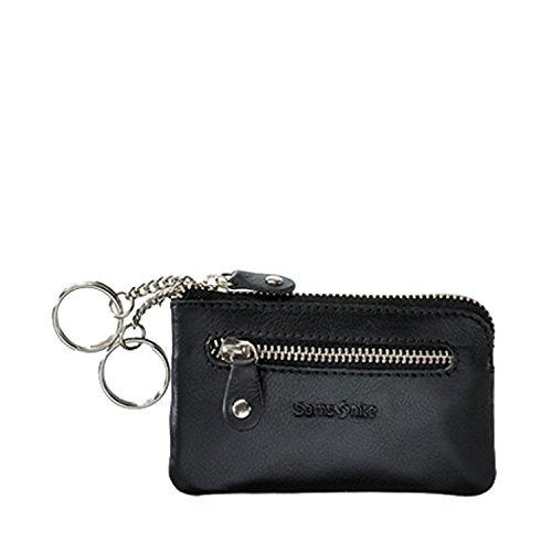 Samsonite Attack Slg Zip Key Pouch Flat 2 R, Porte-monnaie - Noir (Black 1041)