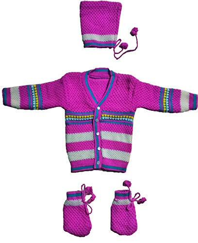RK SWEATERS Baby Sweater for 6-12 Months Combo for Baby boy & Baby Girl(Purple_6-18 Months)| Also Suitable for (6-9),(9-12),(12-18) Months Baby Boy's & Girl's,1 Year Baby boy & 1 Year Baby Girl