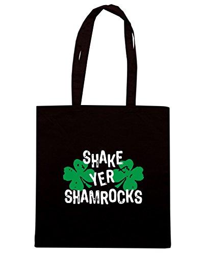 T-Shirtshock - Borsa Shopping TIR0176 shake yer shamrocks dark tshirt Nero