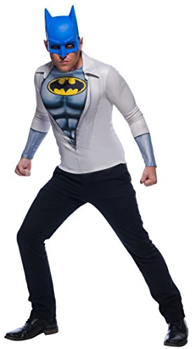 ostüm-Set Shirt und Maske Lizenz grau-Weiss-blau M / L ()