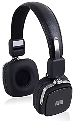 Retro Bluetooth Headphones with Mic - August EP634 - Cordless Headset with Wireless Mic for Android Smartphones / Tablets / Mobile Phones and Apple iPhones / iPads / iPods