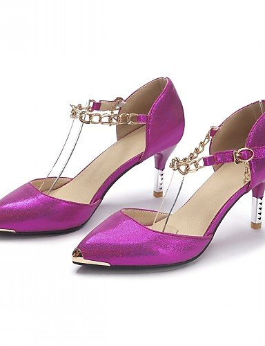 WSS 2016 Chaussures Femme-Bureau & Travail / Habillé / Décontracté-Bleu / Rouge / Blanc-Talon Aiguille-Talons-Talons-Similicuir blue-us8 / eu39 / uk6 / cn39