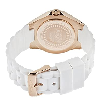 THE INVISIBLE CHEF 1646 - Reloj de cuarzo para mujer, con correa de silicona, color blanco de THE INVISIBLE CHEF