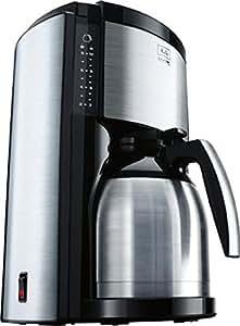 Melitta 6643782 Look Therm De Luxe Kaffeefiltermaschine (Aromaselector) schwarz/edelstahl