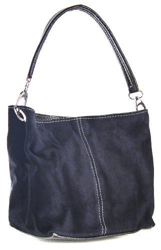 Big Handbag Shop, Borsa a spalla donna One Blu (Blu navy)