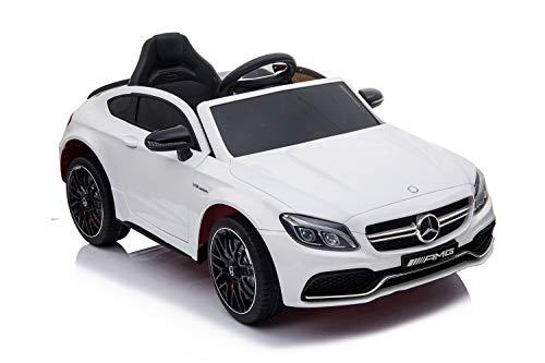 TOYSCAR electronic way to drive Auto Elettrica per Bambini 12V Mercedes C63 AMG Porte Apribili con Telecomando