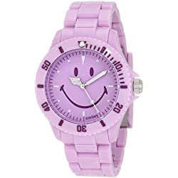 "Smiley ""Happy Time"" Ladies Pretty Pastel Purple Analogue Watch WGS-PPPLV01"