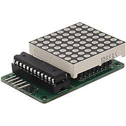 TOOGOO(R) Sin costura en cascada para Arduino PIC 8x8 LED 5.5V matrix Max7219 5 x Dupond Cable WB