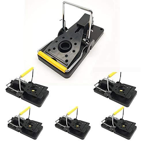 Trampa para ratones, trampas para ratones, trampas para ratón, clip de metal, fácil de configurar, trampas de control de ratón, reutilizables, para interiores