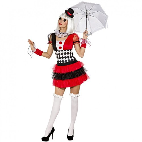 34-44 Damen Kleid Zirkus Künstler Artist Clown Manege Karneval (38/40) (Zirkus Kostüme)