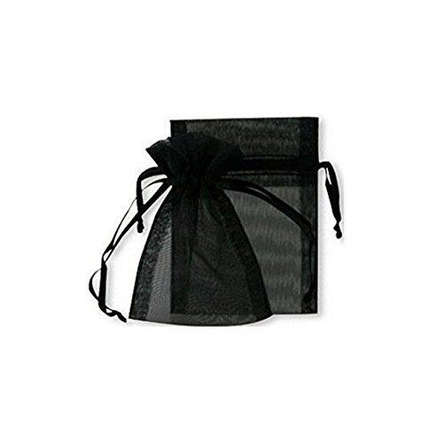 100�nero gioielli di nozze sacchetti regalo in organza 7�x9�cm distribuire e venduto da Waygo