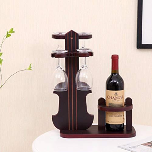 LIZHONG-SLT hölzerne Wein Rack, Dekorative europäischen Stil weinkelch Rack, Hohen stativ Geige...