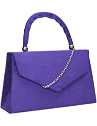 2cdd751870 SwankySwans Women's Kendall Suede Envelope Party Prom Clutch Bag Clutch