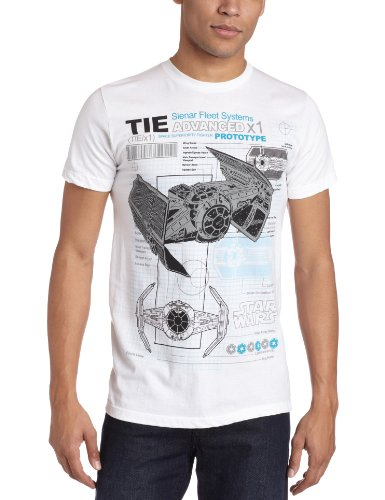 Preisvergleich Produktbild Star Wars Darth Vaders Tie Fighter Prototype Blueprint T-Shirt | L