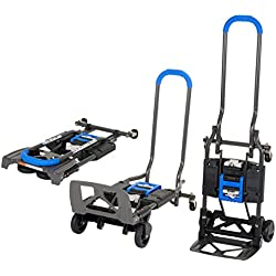 COSCO Chariot Charge 135kg Multi-Position Pliant Transport Diable (Bleu)