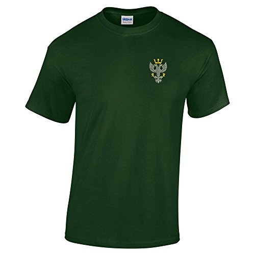 MERCIAN Regiment bestickt T-Shirt Grün - Waldgrün