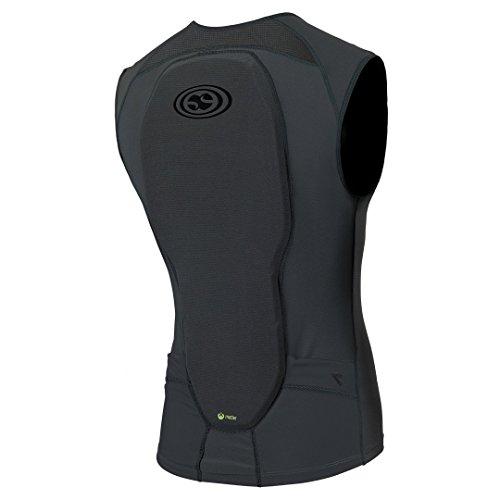 iXS Flow Weste Protektor Oberkörper Schutz Shirt Trikot DH MTB BMX Mountain Bike Downhill, 482-510-6905-009, Farbe Grau - Kinder, Größe KL