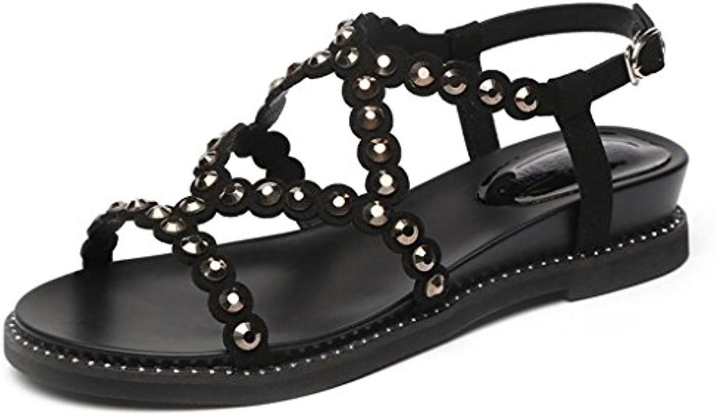 Single Chaussure s - female  chaussures s sauvages d'été chaussures  de strass mode coréenne (Couleur : Noir, taille : 35-...B07D5XCZRZParent 8e46ee