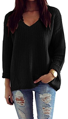 womens-pullover-winter-casual-long-sleeve-knitted-jumper-top-outerwear-627-schwarz