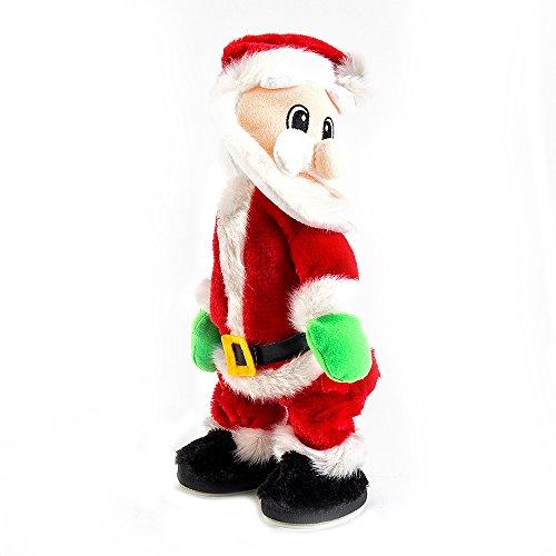 Automate Père Noël chantant et dansant debout peluche en peluche Noël décoration avec musique Noël jouets des cadeaux