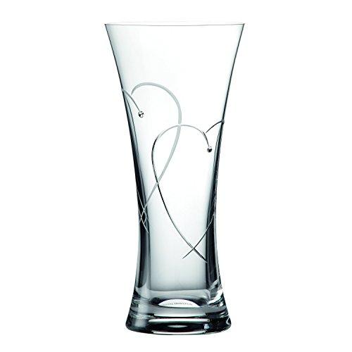 Doulton Vase (Promises by Royal Doulton 29cm Zwei Herzen verschlungene Vase)