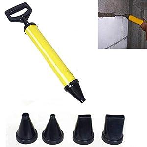 Uteruik – Herramienta aplicadora para Pistola de enlechado y mortero + 4 boquillas para Lima de Cemento