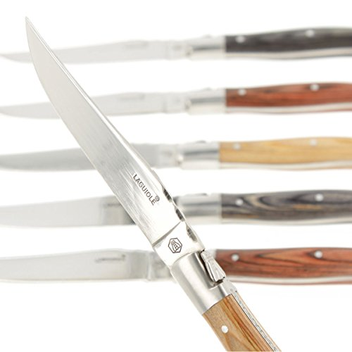 6 scharfe Steakmesser von Laguiole im Geschenkkarton