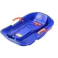 JFJL Nieve Trineos con los Frenos Trineo para niños pequeños para niños pequeños con Cuerda de tracción cómoda,Trineo de Nieve Deporte al Aire Libre,Trineo de Invierno en Trineo de Nieve Trineo,Blue