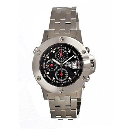 uhr-kraft-uhr603-2m-herren-stailess-silber-armband-band-black-dial-watch