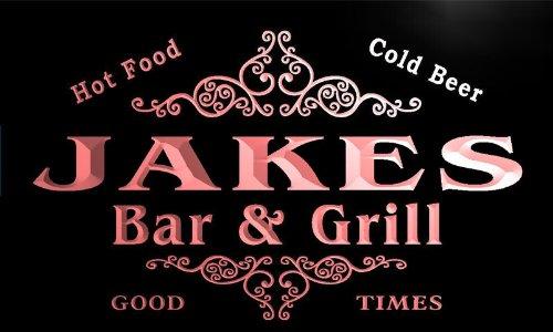 u21842-r JAKES Family Name Bar & Grill Home Beer Food Neon Sign Barlicht Neonlicht Lichtwerbung