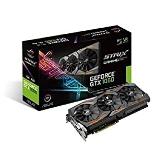 ASUS STRIX-GTX 1060-6 GB-GAMING ROG GDDR5 Graphics Card (Nvidia Geforce GTX 1060 6Gb STRIX 6G) - Black
