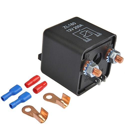 OFNMY RelaisBatterie Trennrelais 12V/200A Spitzenlast Batterietrennrelais für Auto PKW Wohnwagen -