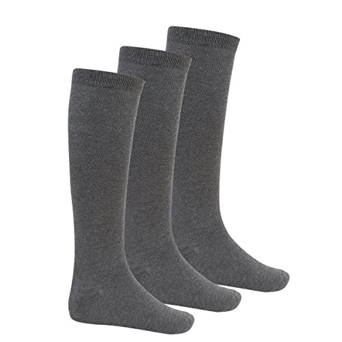 Bay 6 Kids Plain Cotton Rich Knee High School Socks