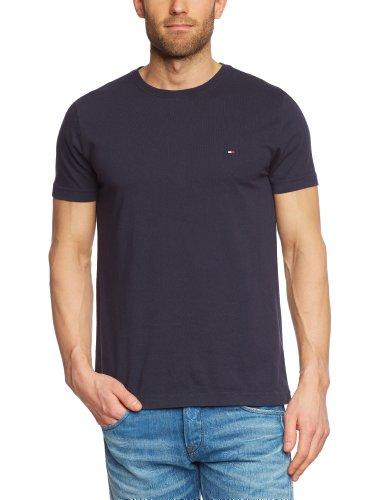 Tommy Hilfiger Herren T-Shirt Flag Tee S/S RF / 0857827955, Gr. 50 (M), Blau (403 Midnight)