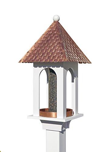 Good Directions Vogelfutterstation aus reinem Kupferdach mit PVC-Basis Extra Large Gold -