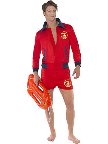 Baywatch Rettungsschwimmer Kostüm 2-teilig David Hasselhoff (Zubehör Baywatch)
