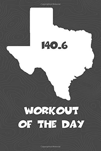 Workout of the Day: Texas Workout of the Day Log for tracking and monitoring your training and progress towards your fitness goals. A great triathlon ... bikers  will love this way to track goals! por KwG Creates