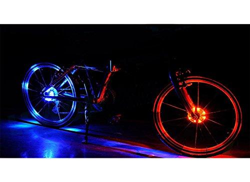 Backtour® 3 Modell Fahrradlicht Speichenlicht Speichenreflektor wasserdicht vorne/hinten Radlicht benuzt für Sicherheit und Warnung LED Lampe Motorrad Zubehör (rot) …