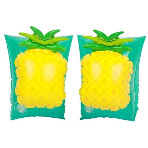 Finelyty Kinder Floater Aufblasbare Armbänder Ringe Floats Water Wings Armbänder, Ärmel Schwimmringe Tube Armlets (Ananas/Erdbeere) -