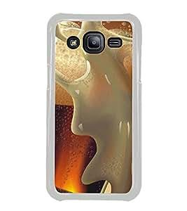 PrintVisa Designer Back Case Cover for Samsung Galaxy J1 (2015) :: Samsung Galaxy J1 4G (2015) :: Samsung Galaxy J1 4G Duos :: Samsung Galaxy J1 J100F J100Fn J100H J100H/Dd J100H/Ds J100M J100Mu (Beer Mug With Foam Spilling)