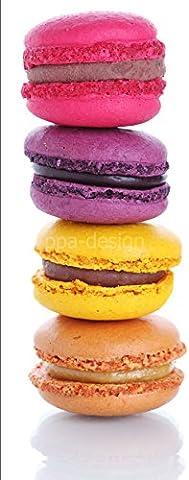 Stickers Macarons - Sticker autocollant frigo Macarons 70x170cm SAEFR1094 (Fond