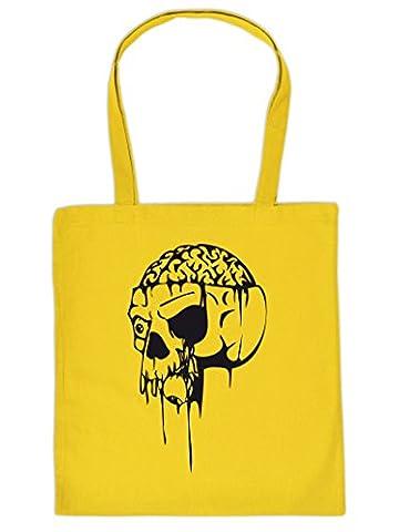 Stofftasche, Einkaufstasche für Halloween - Totenkopf - Gruselige Tragetasche, Stoffbeutel