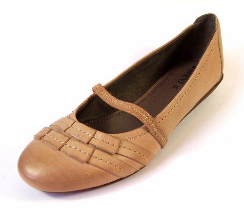 Indigo 422-195 Ballerines pour femme/fille en cuir Taupe Tailles 33 à 39
