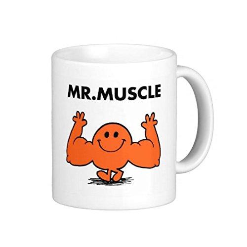 Lewistons-Of-London Herr Herren Muskel Gym Workout Fit Fitness Little Miss Gewichte Ernährung Funny Humor Arbeit Banter Kaffee Tee Geschenk Neuheit Büro Boss Keramik weiß Cup 313ml Becher -