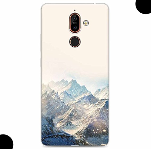 WEIFA 2017 New Nokia105 Soft Case, Very Light Slim Artist Special Snow Mountain Picture Style, 2018 Newest Thin Anti-Scratch Cellphone Cover Case for 2017 Nokia 105
