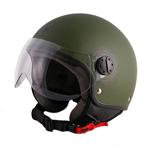 Rodeo Drive RD104flash Casco Moto, Verde, Taglia L