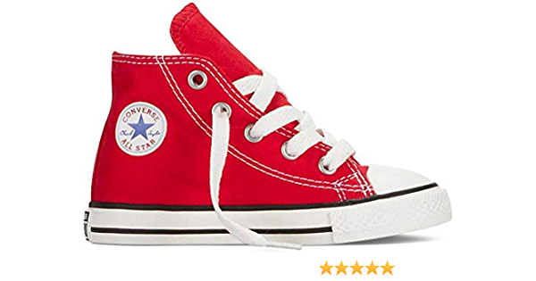 Converse All Star Hi Classic Red Infant Trainers Size 3 Uk Amazon Co Uk Converse Books