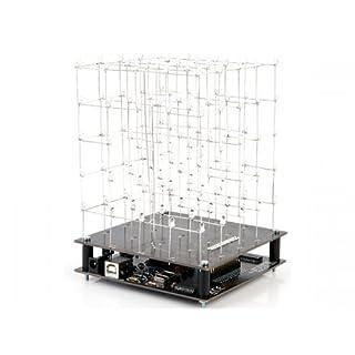 Velleman 840520 3D-Cube mit weißen LED, 5 x 5 x 5, Bausatz, K8018W