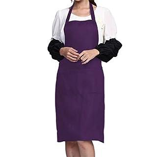 AFUT NON Waterproof Plain Color Bib Apron Adult Women Men Unisex Front Pocket Washable For Cooking Baking Kitchen